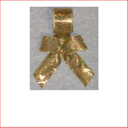 Gold Lame with Sparkles-65mm Single Bow looks great with the final touch of the glitter which sparkles through the bow. Gold Lame with Sparkles-65mm Single Bow is pre made by our designer team to suit all garlands, wreaths, christmas trees and wall sequoia's. Gold Lame with Sparkles-65mm Single Bow is very classy and a favourite for corporate clients. The colour gold is very traditional that everyone loves and adores