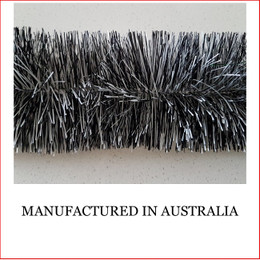 Australian manufactured 4 Ply Tinsel Garland - Black and White (100mm x 5.5m). Very thick and lush commercial grade tinsel made right in Australia.  We cannot emphasize how beautiful this tinsel looks. Currently in very high demand for corporate clients from shopping centres, RSL's, car yards and various businesses from fruit shops to offices and building foyers.  Made in Australia from quality raw materials that strengthen the garland tinsel which ensures a longer lasting product. Colours also Available: Black, Cerise, Electric Blue, Gold, Green, Lime, Orange, Purple, Red, Royal Blue, Silver, White