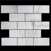 Calacatta Gold Italian Marble 4x8 Subway Tile Honed