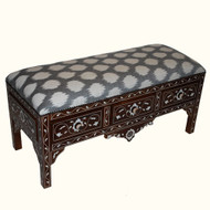 Syrian Bench MOP and Gray Ikat