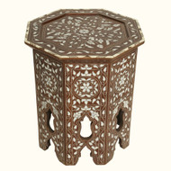 Syrian Side Table MOP and Bone Inlaid