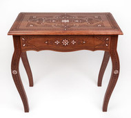 Syrian Carved Console Table, Dark walnute