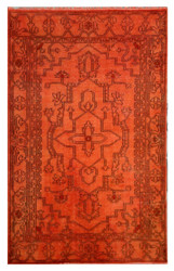 Over-dyed Rug, Orange