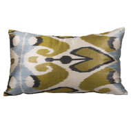 Ikat Pillow, Blue & Gold