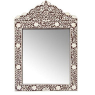 Marrakech Bone Inlay Mirror, Brown
