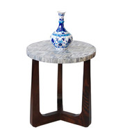 R70 Bone Inlaid Side Table, Grey