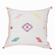 Moroccan Berber Sabra Throw Pillow, Cream