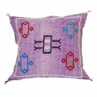 Moroccan Berber Sabra Throw Pillow, Purple 2
