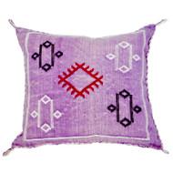 Moroccan Berber Sabra Throw Pillow, Purple 3