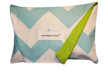 The Diaper Clutch - Aqua Chevron
