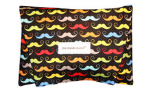 The Diaper Clutch - Black Mustache