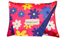 The Diaper Clutch - Pink Daisy