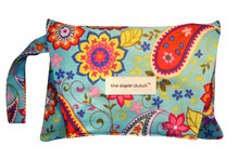 The Diaper Clutch - Paisley Spree w/wrist strap