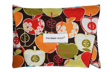 The Diaper Clutch - Brown Apples