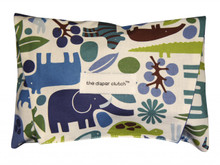 The Diaper Clutch - Blue Zoo