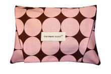 The Diaper Clutch - Pink Disco Dot