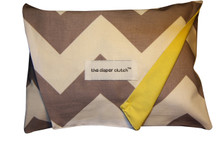 The Diaper Clutch - Gray Chevron