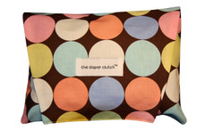 The Diaper Clutch - Brown Disco Dot