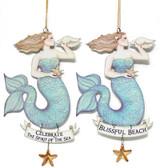 Metal Mermaid Ornaments