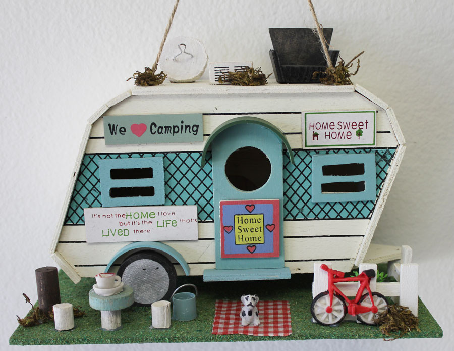 Related Pictures camper birdhouse trailer bird house airstream style ...