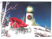Seaside Holiday with Lighthouse and Sleigh