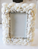 White Seashell 3.5 x 5 Picture Frame