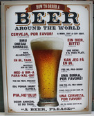 How to Order Beer Around the World Metal Sign