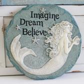 Imagine, Dream, Believe - Mermaid Stepping Stone