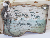 Beach Bums Welcome Here Mermaid Sign