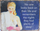 Plenty of Sleep Metal Sign