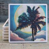 Palm Tree & Moon Coaster