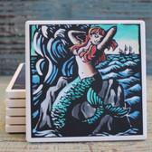Mermaid Scratchboard