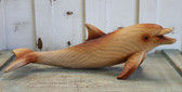 Large Wood Look Dolphin Figure