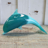 Teal Glass Dolphin