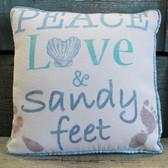 Peace Love & Sandy Feet Pillow