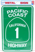Pacific Coast Highway - Aluminum Street Sign