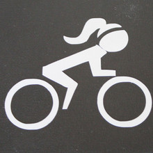 BIC Chick Bike Sticker