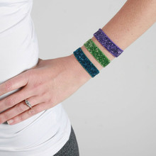 Double Duty Sparkle Hair Ties/Bracelets~ Green, Purple, Peacock