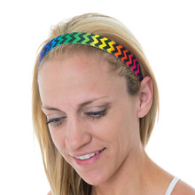 Thin Keep Calm and Chevron Neon Black Rainbow