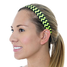 Thin Keep Calm and Chevron Neon Yellow Black