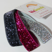 Double Duty Sparkle Hair Ties/Bracelets~ Fuchsia, Silver, Gunmetal