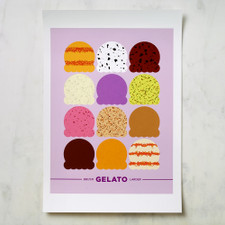 Bklyn Larder Gelato Poster