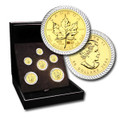 2004 GOLD MAPLE LEAF BIMETALLIC (6 COIN SET) 1.94 oz GOLD