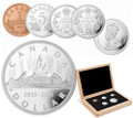 2010 Limited Edition Proof 5-coin Set - 75th Anniversary of Canada's Voyageur Silver Dollar