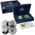 2012 San Francisco 2 Coin Silver Eagle Proof Set OGP.Includes Reverse Proof