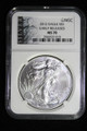 2012 SILVER EAGLE EARLY RELEASES BLACK LABEL NGC MS70