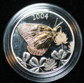 2004 Canada Clouded Sulphur Butterfly 50-cent Sterling Silver Coin