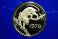 1978 $250 BELIZE GOLD (TIGER) LOW MINTAGE GOLD PIECE ASW (.2549)