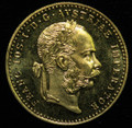 1915 AUSTRIAN 1 DUCAT (RE-STRIKE) GOLD COIN (ASW .1107)