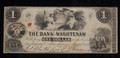 $1 OBSOLETE BROKEN BANK NOTE PAPER MONEY (THE BANK OF WASHTENAW) #N062